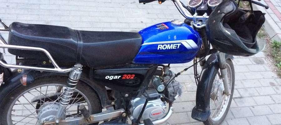 Skradziony motorower szybko wrócił do właściciela