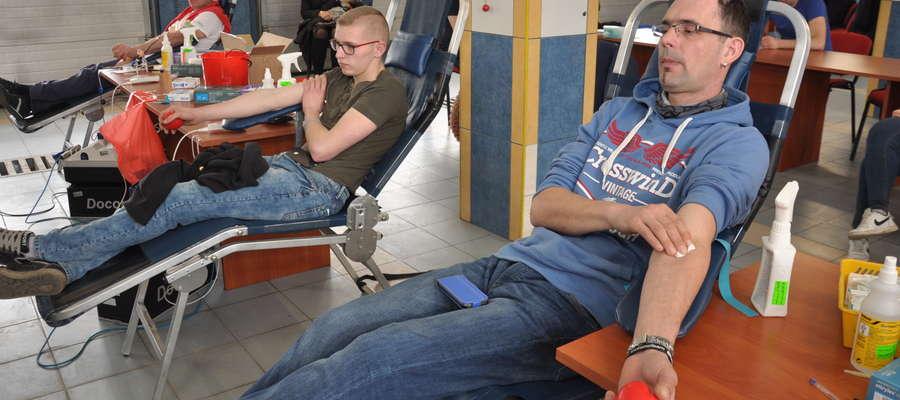 Podczas jednego z poborów krwi w straży w Nowym Mieście Lubawskim