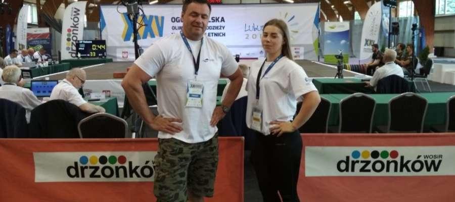 Martyna ze swoim trenerem w Drzonkowie