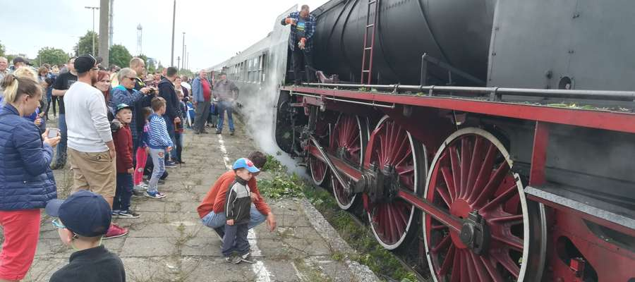 Wizyta turystycznego pociągu wzbudziła duże zainteresowanie