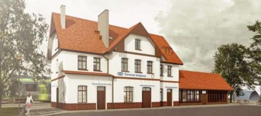 Wizualizacja - tak ma wyglądać dworzec w Suszu od strony miasta
