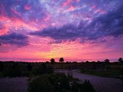 Niesamowite niebo nad Ceglarkami, koło Bartoszyc.