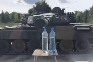 #Bottlecapchallange po giżycku, czyli jak odkręcić butelkę... czołgiem! [VIDEO]