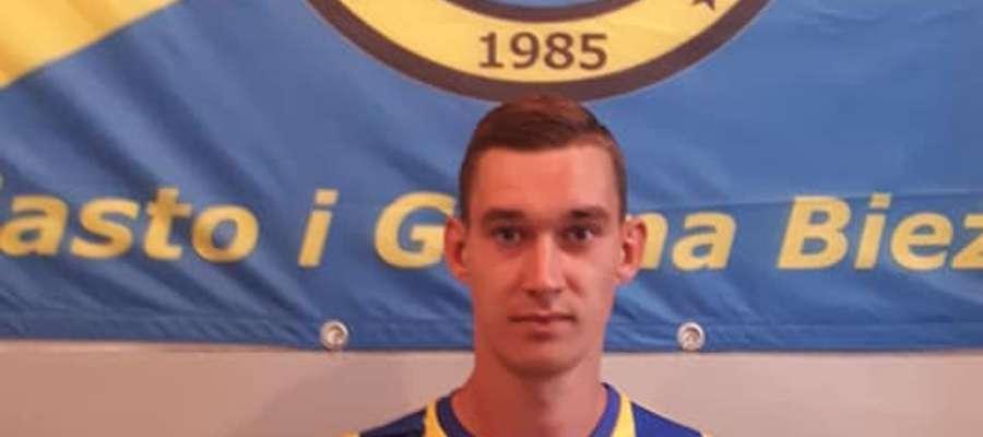 Bartosz Narewski będzie reprezentował barwy bieżuńskie Wkry