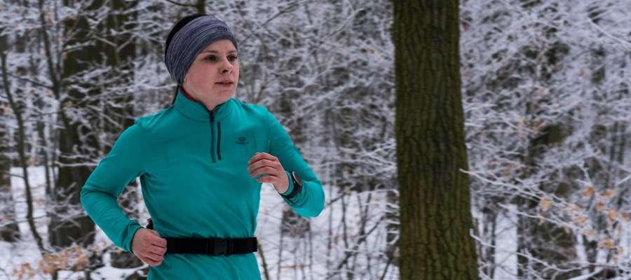 Sylwia Leliwa podczas jednego ze startów