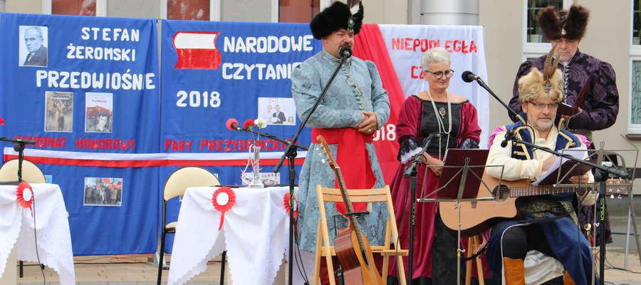 W ubiegłym roku czytaniu towarzyszył koncert Błękitnej Chorągwi Husarskiej Województwa Kujawsko-Pomorskiego