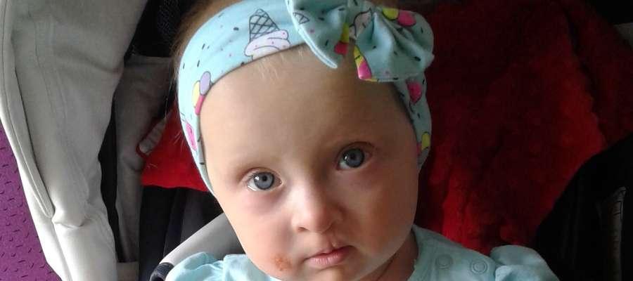 Oliwia mimo choroby jest pogodnym dzieckiem