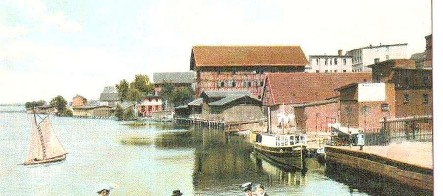 Iława. Ośrodek wypoczynkowy przy obecnej ulicy Konstytucji 3 Maja. Pocztówka z 1901 roku