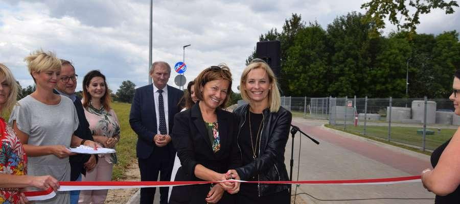 Oficjalnego otwarcia ścieżki dokonała między innymi Bernadeta Hordejuk