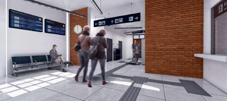 Wizualizacja dworca PKP w Suszu — tak obiekt ma wyglądać w środku