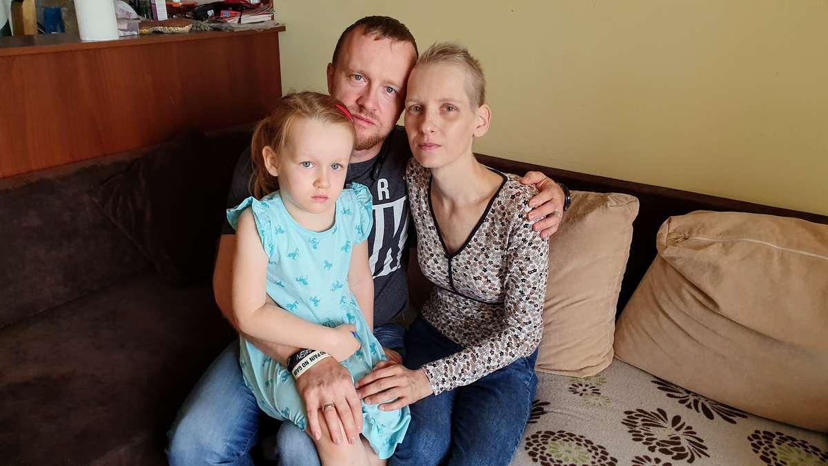 Anna Onasz z mężem Zbyszkiem i córką Wiktorią