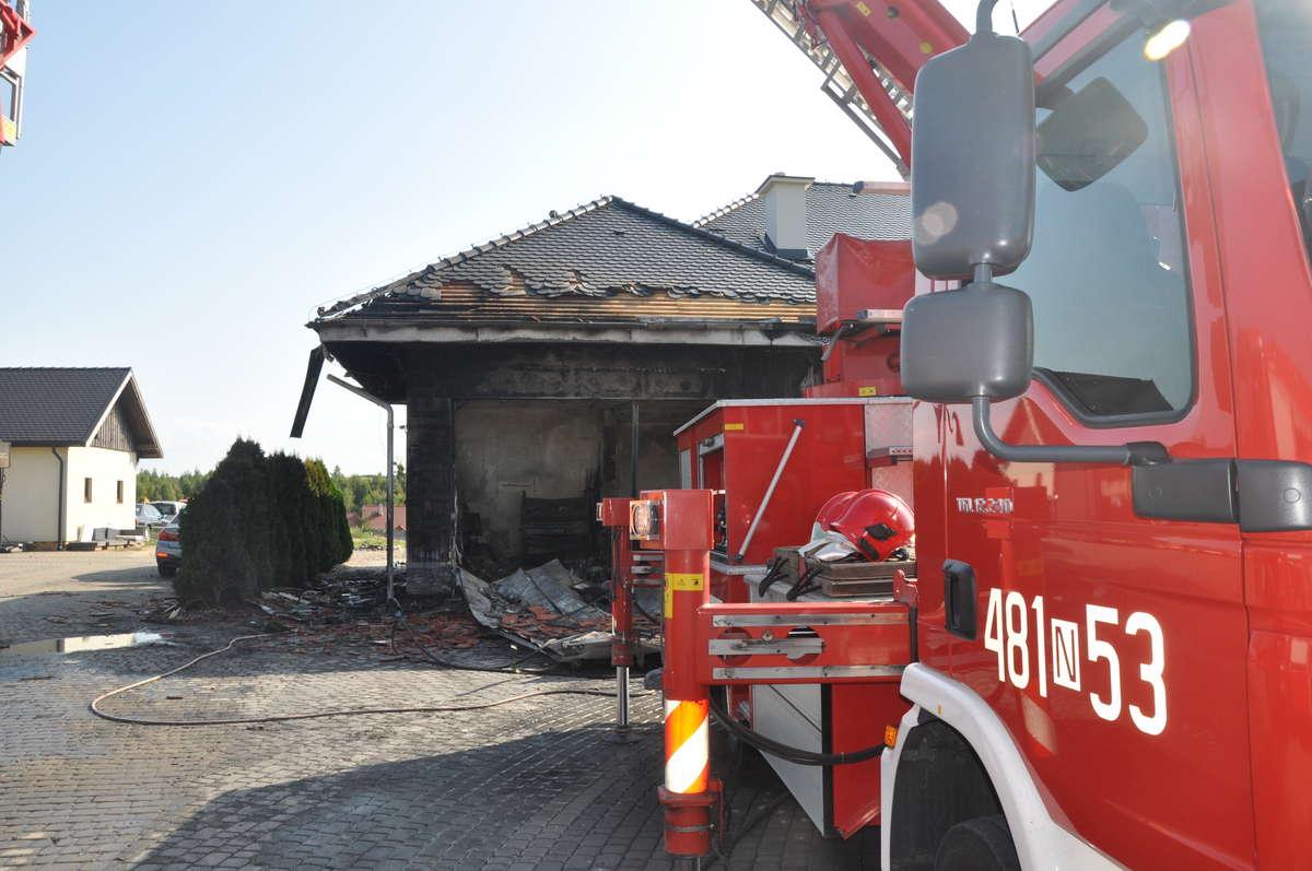Pożar w Łabnie