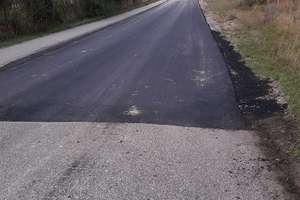 Zniszczony fragment drogi w Komorowie wyremontowany