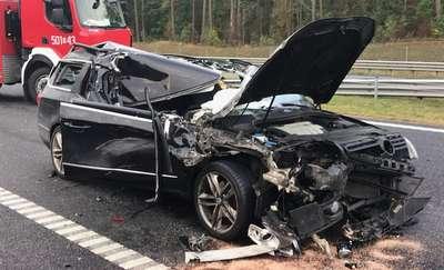 Groźny wypadek na S7. Dwie osoby trafiły do szpitala