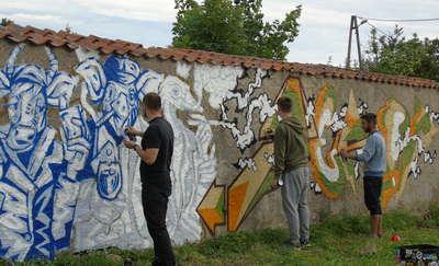 Na murze powstało ciekawe malowidło