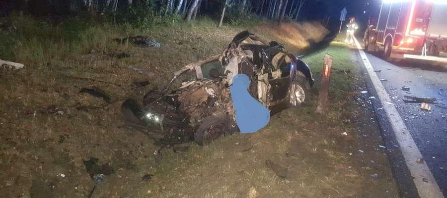 Tragedia na DK 16 pod Ostródą wydarzyła się około godz. 3 w nocy