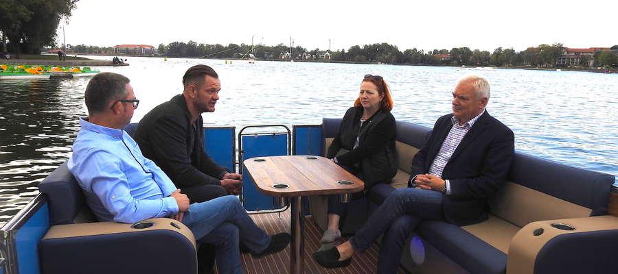 Na zdjęciu od prawej: Stanisław Gorczyca, Katarzyna Królak i Przemysław Ulaniuk