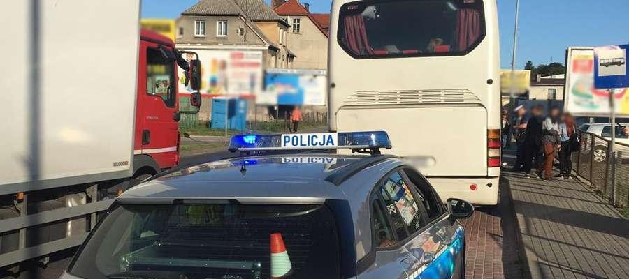 Do kontroli autobusu doszło w piątek rano na ul. Mickiewicza w Nowym Mieście Lubawskim