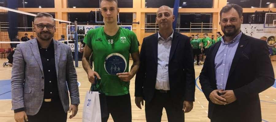 Dawid Sokołowski został uznany MVP pierwszego meczu w Rypinie