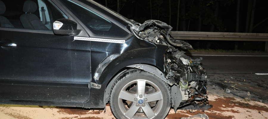 Ford uderzył w ciągnik