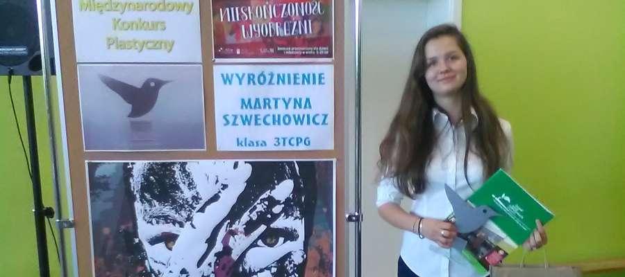 Martyna zdobyła wyróżnienie w międzynarodowym konkursie plastycznym