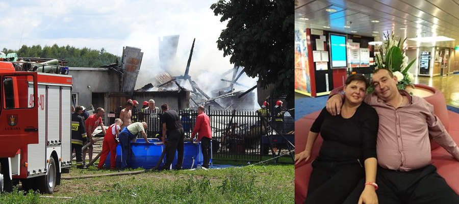 Pożar w Rakowicach strawił niemal cały dobytek Katarzyny i Pawła Zakretów