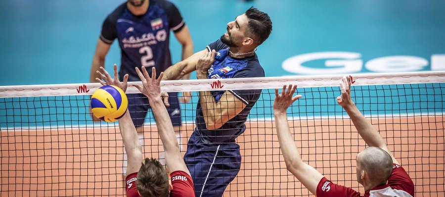 Seyed Mohammad Mousavi w meczu z Polakami