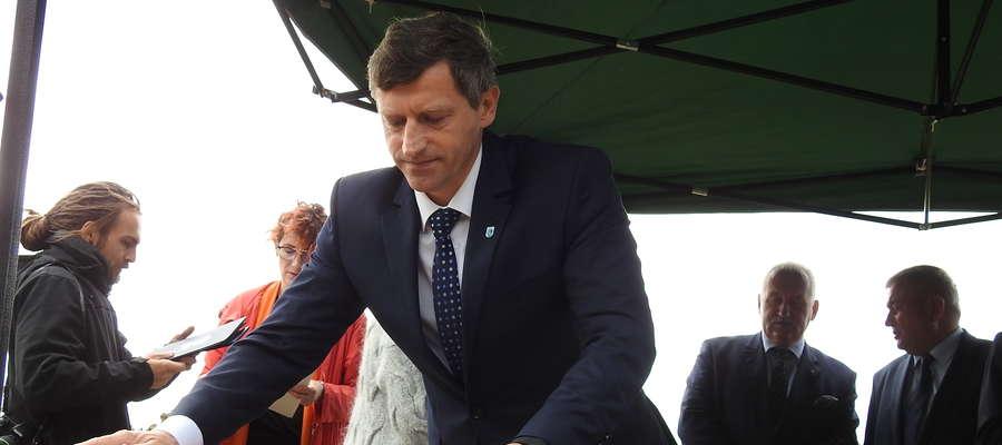 Burmistrz Lidzbarka Warmińskiego Jacek Wiśniowski