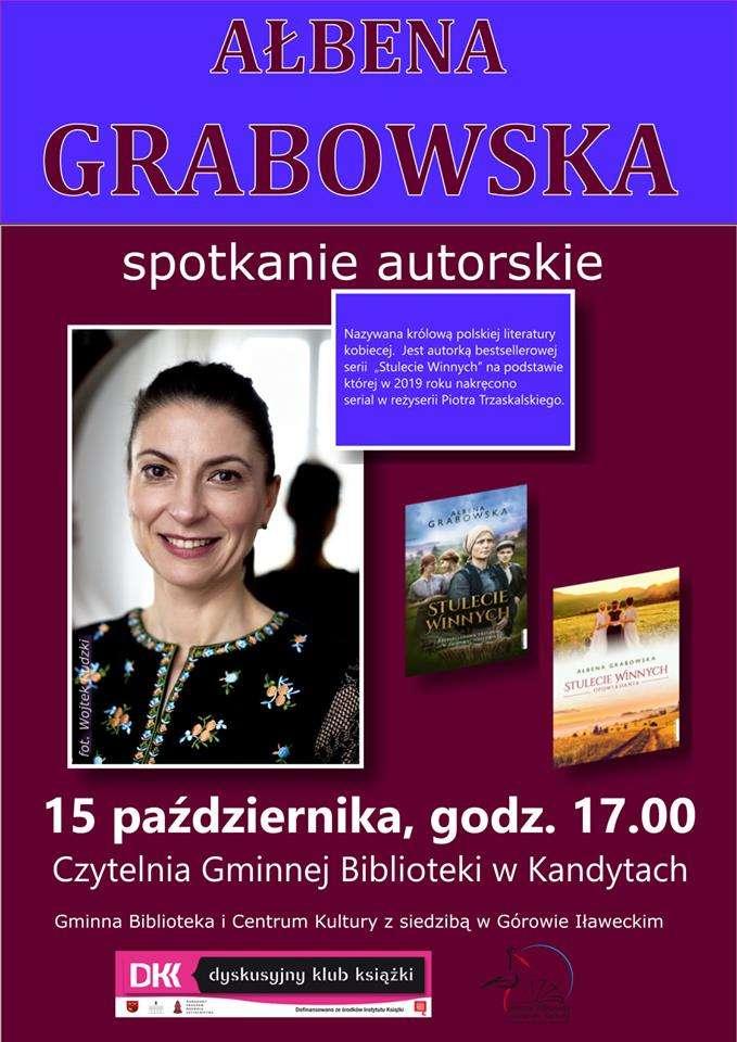 Spotkanie autorskie z Ałbeną Grabowską w kandyckiej bibliotece - full image