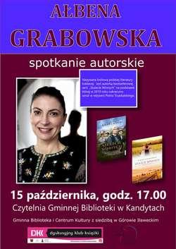 Spotkanie autorskie z Ałbeną Grabowską w kandyckiej bibliotece