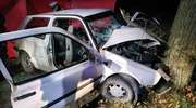 Tragiczny wieczór. Nie żyje mężczyzna, który uderzył autem w drzewo [ZDJĘCIA]