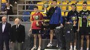 Łukasz Sokołowski na podium pingpongowego Grand Prix Polski juniorów