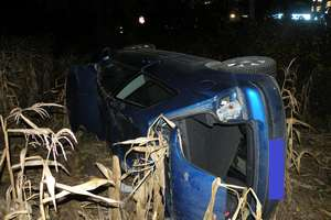 Gwiździny: Auto wypadło z drogi, 18-latka z obrażeniami [ ZDJĘCIA ]