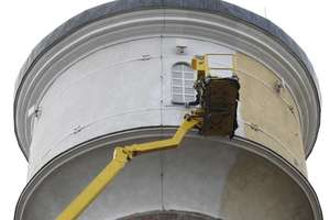 Lifting wieży ciśnień w Olecku
