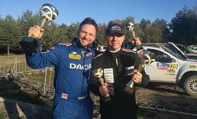 Drugie w sezonie zwycięstwo załogi Grabowski/Binięda. Tym razem podczas rajdu w Żaganiu