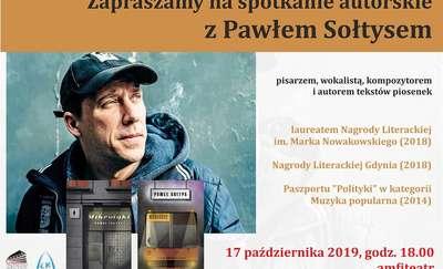 Paweł Sołtys w Ostródzie. Spotkanie autorskie w amfiteatrze