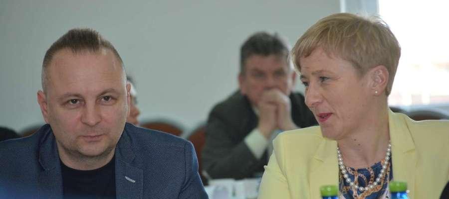 Marcin Czekay na sesji Rady Miejskiej w Olecku