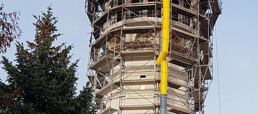 Modernizowana wieża ciśnień w Olsztynku
