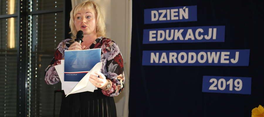 Spotkanie prowadziła prezes ZNP Marzena Więckowska