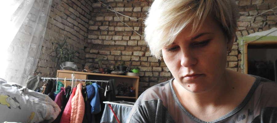 Magda Szałkowska w remontowanym pokoju.