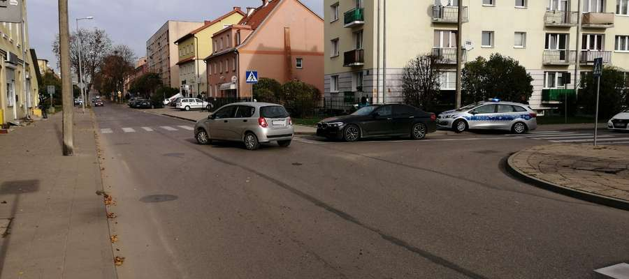 Do kolizji doszło na skrzyżowaniu ulic Nowowiejskiej i Kościuszki