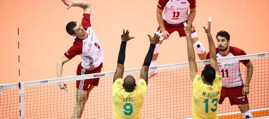 Maciej Muzaj zdobył w meczu z Brazylią 17 punktów