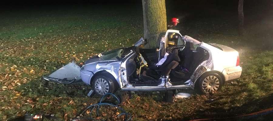 Wypadek w Plęsach z 12 października 2019 r.