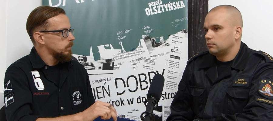"""""""Rozmowa Gońca"""": Piotr Kowalski z bartoszyckiej straży pożarnej"""