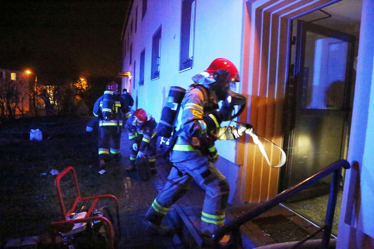 Pożar mieszkania Żiżki