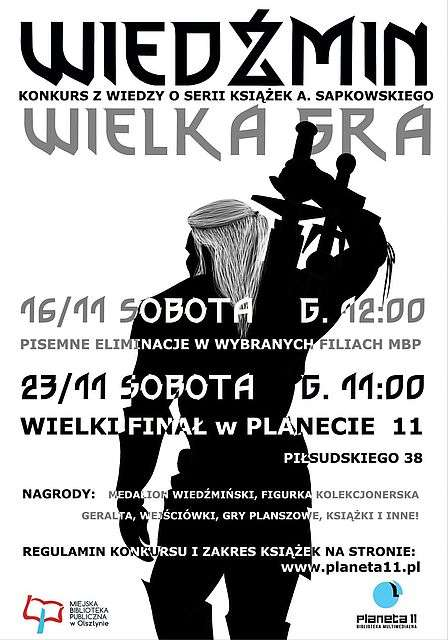 Zanim obejrzysz serial o Wiedźminie, w Olsztynie możesz sprawdzić, ile wiesz o cyklu Sapkowskiego - full image
