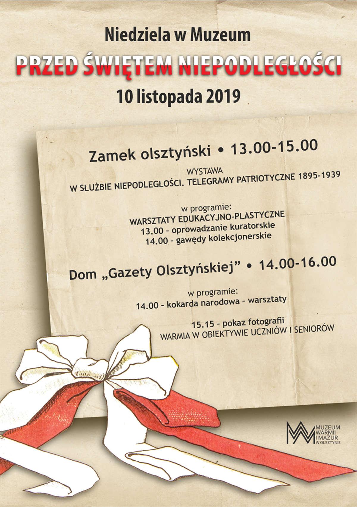 Niedziela w Muzeum przed Świętem Niepodległości  - full image