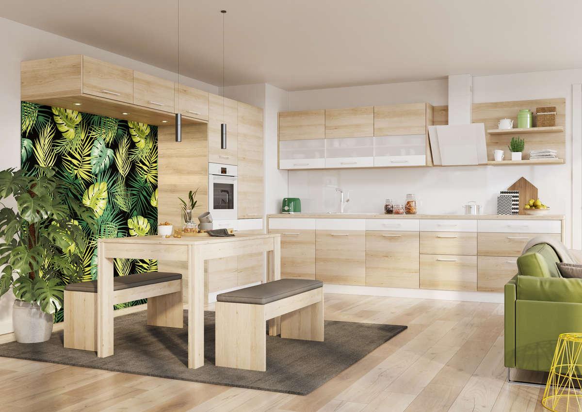 Nowoczesna kuchnia w kolorze drewna? Bardzo dobre rozwiązanie! - full image