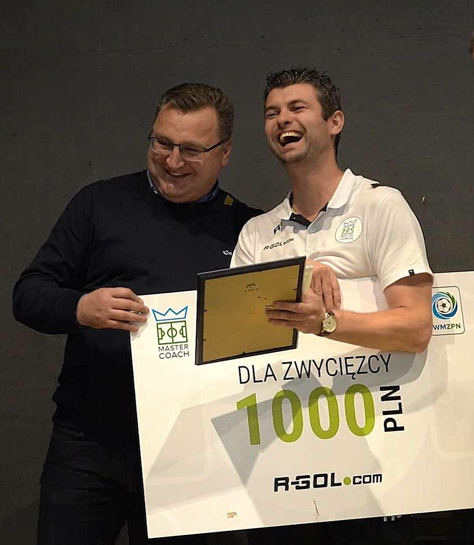 Czesław Michniewicz i Wojciech Figurski, zwycięzca pierwszej edycji Master Coach
