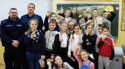 Uczniowie gołdapskiej podstawówki odwiedzili policjantów
